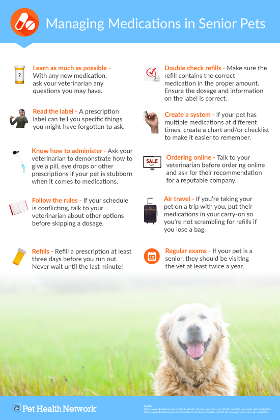tips for managing your pets medication poster info graphic