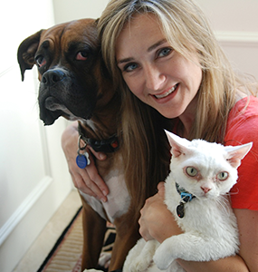 Dr. Ruth MacPete with her pets