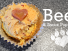 Beef & Bacon Pupcakes Valentines Day Treat